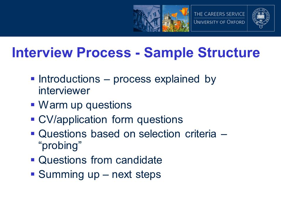 Interview Process - Sample Structure
