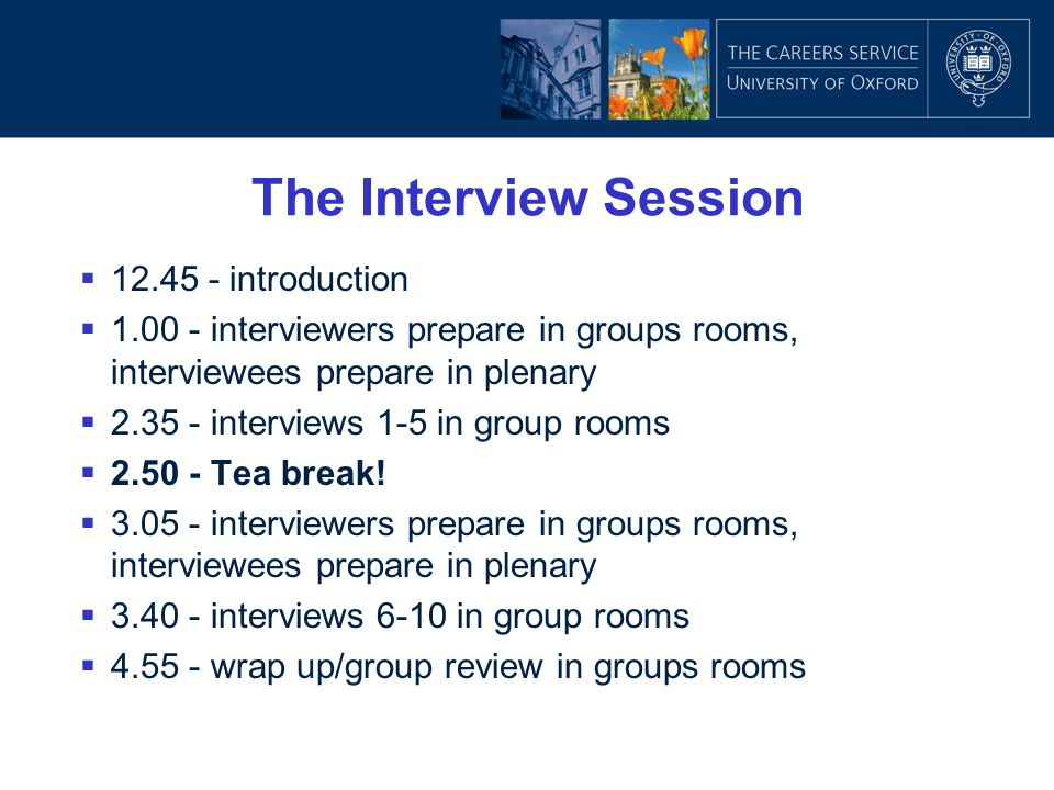 The Interview Session 12.45 - introduction