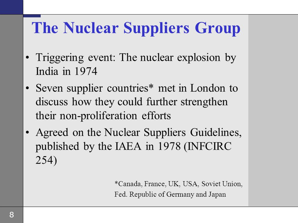 The Nuclear Suppliers Group