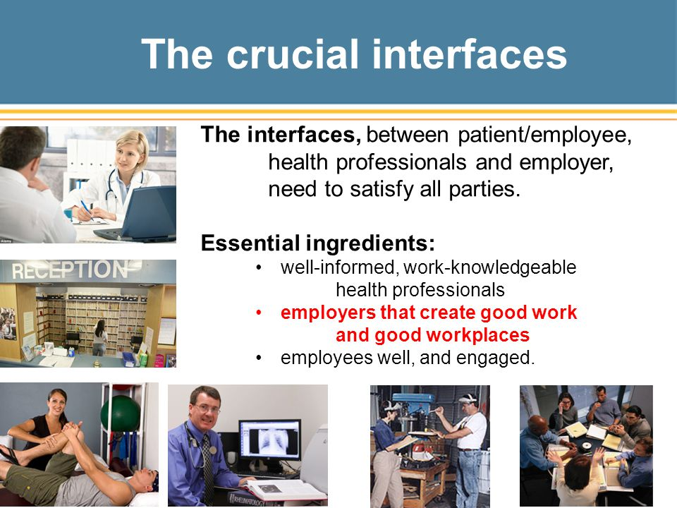 The crucial interfaces
