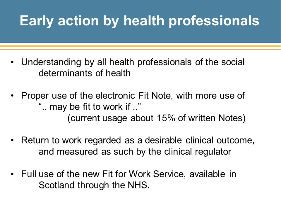 Early action by health professionals