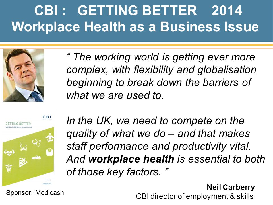Workplace Health as a Business Issue