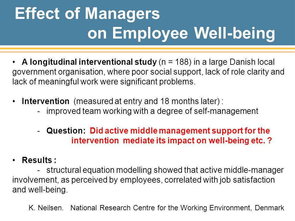 on Employee Well-being