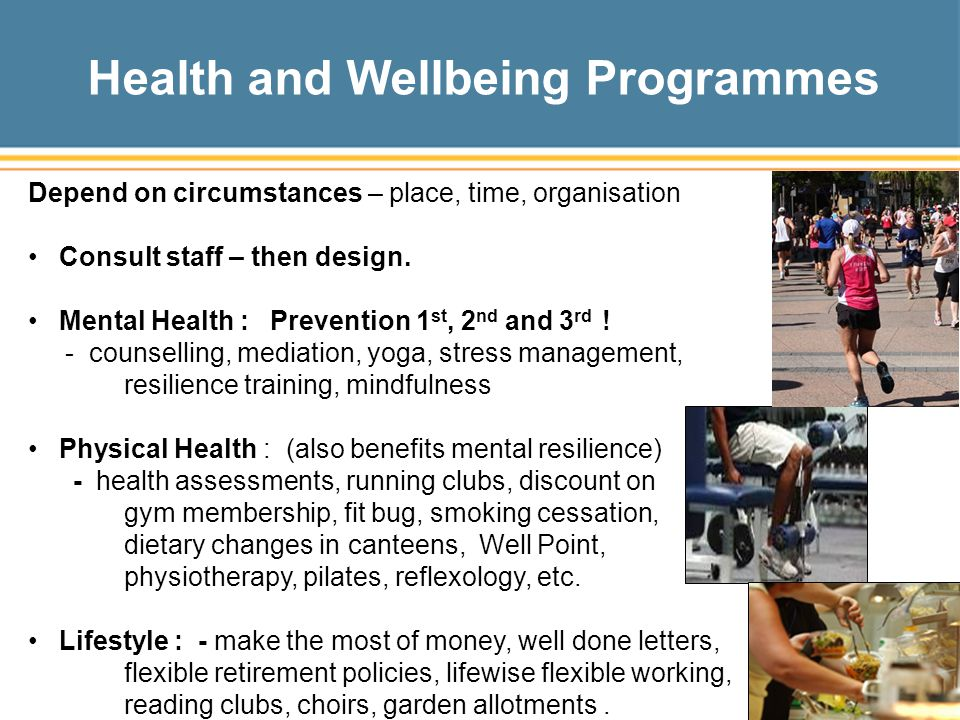 Health and Wellbeing Programmes