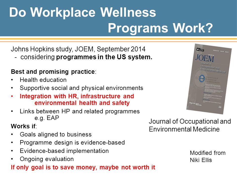 Do Workplace Wellness Programs Work
