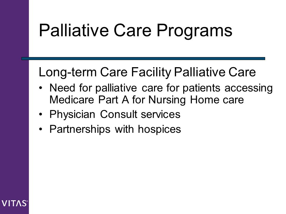 palliative care facilities essay Unlike hospice care, palliative care services are available to people who are not terminally ill, but are facing an illness that interferes with their ability to cope with and enjoy daily life palliative care services are provided in patients' homes, in long-term-care facilities, or in hospitals.