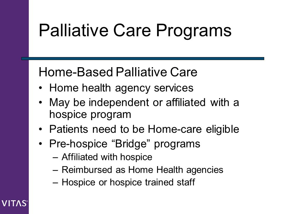 Palliative Care Programs