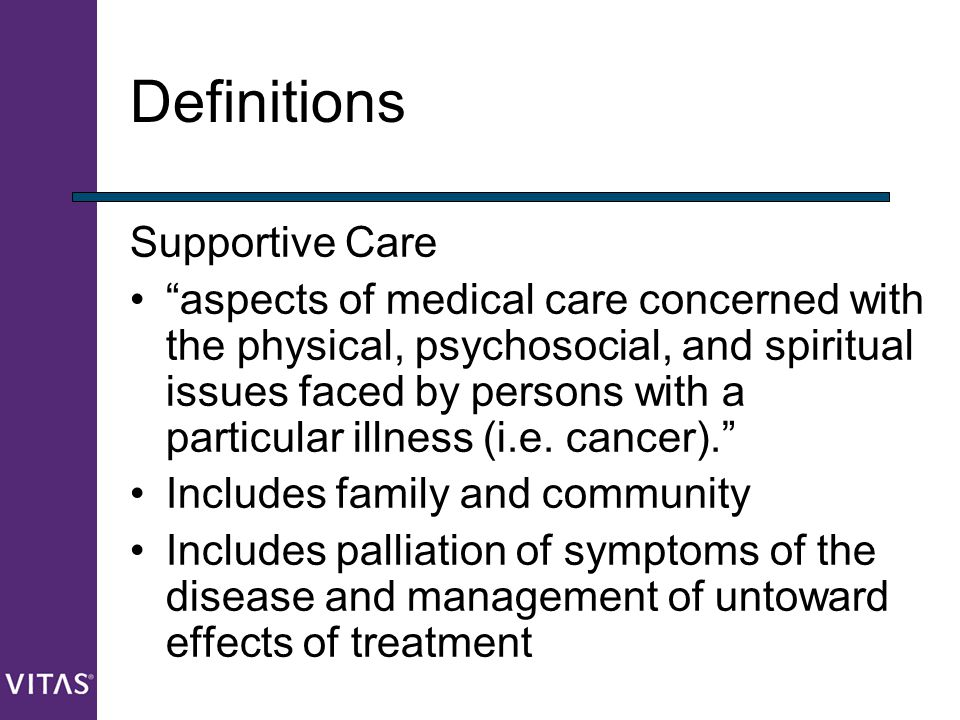Definitions Supportive Care