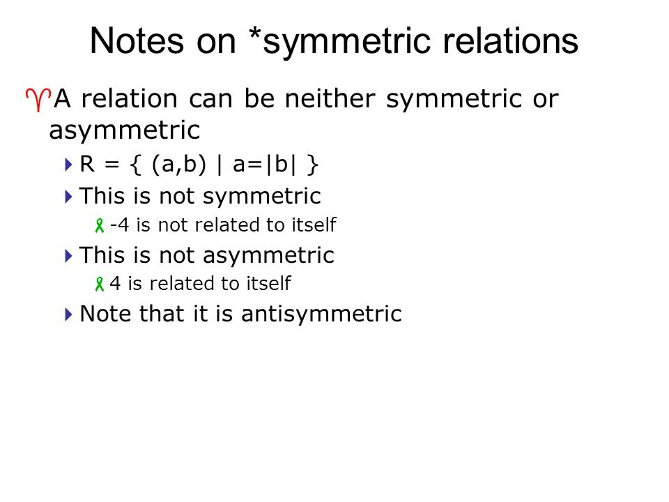 Notes on *symmetric relations