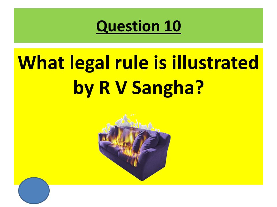 What legal rule is illustrated by R V Sangha