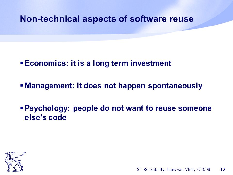Non-technical aspects of software reuse