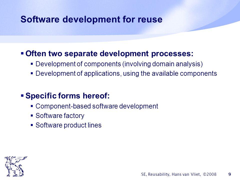 Software development for reuse