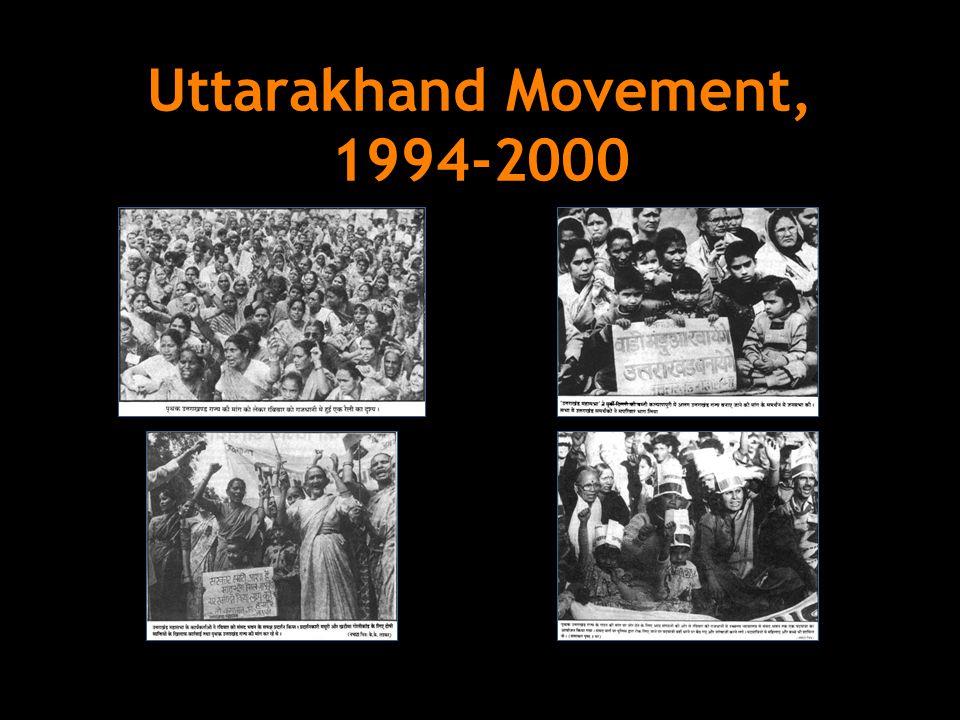 Uttarakhand Movement, 1994-2000