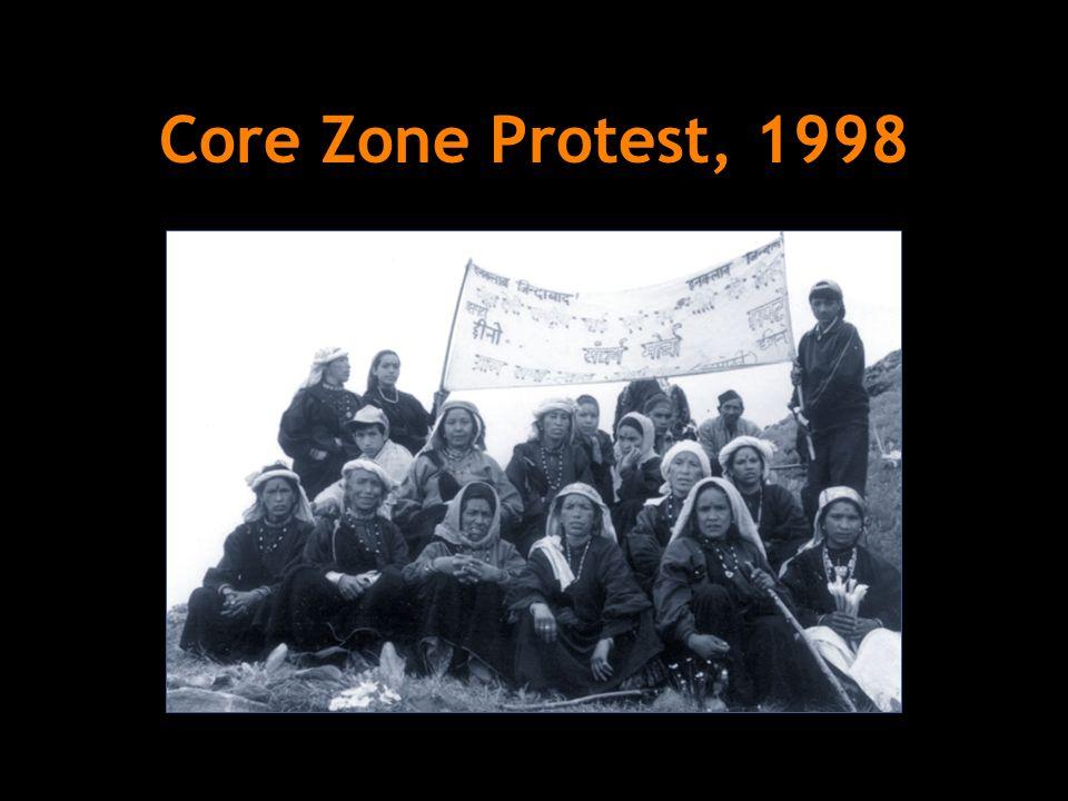 Core Zone Protest, 1998
