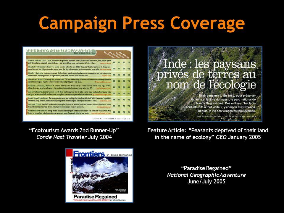 Campaign Press Coverage