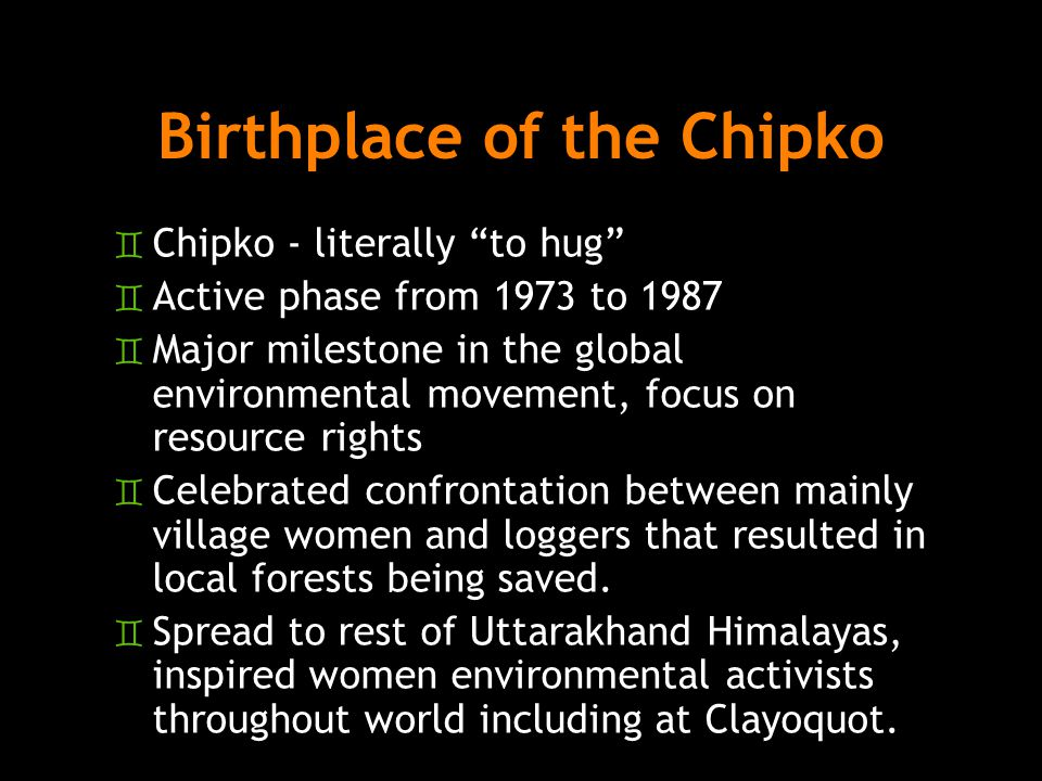 Birthplace of the Chipko