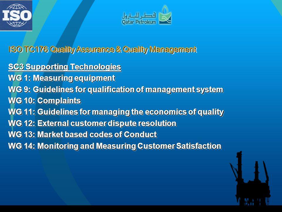 ISO TC176 Quality Assurance & Quality Management