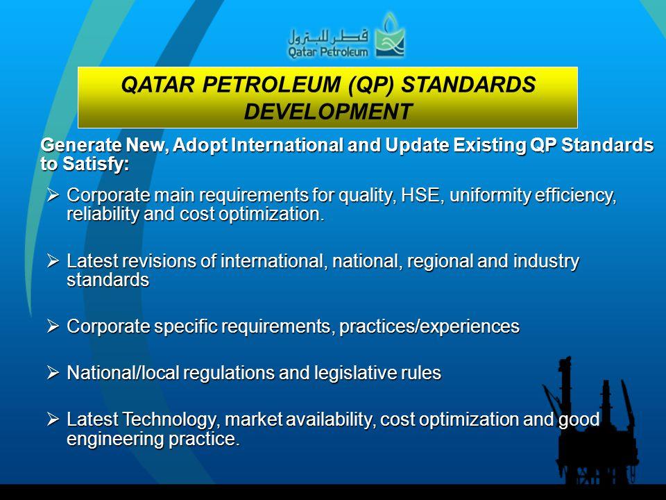 QATAR PETROLEUM (QP) STANDARDS DEVELOPMENT