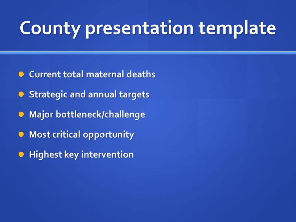 County presentation template