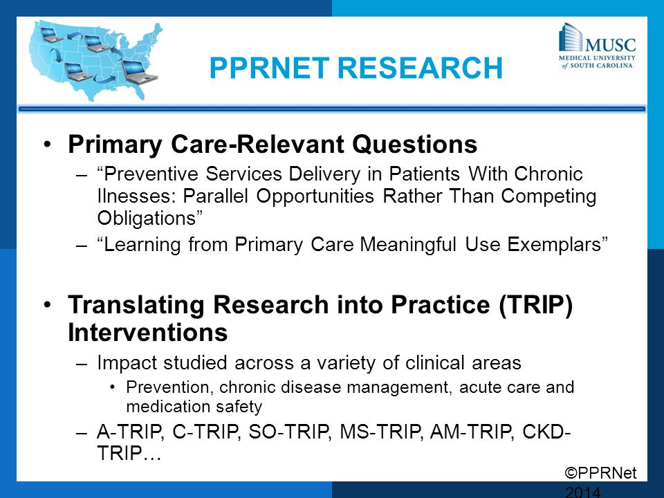 Pprnet research Primary Care-Relevant Questions