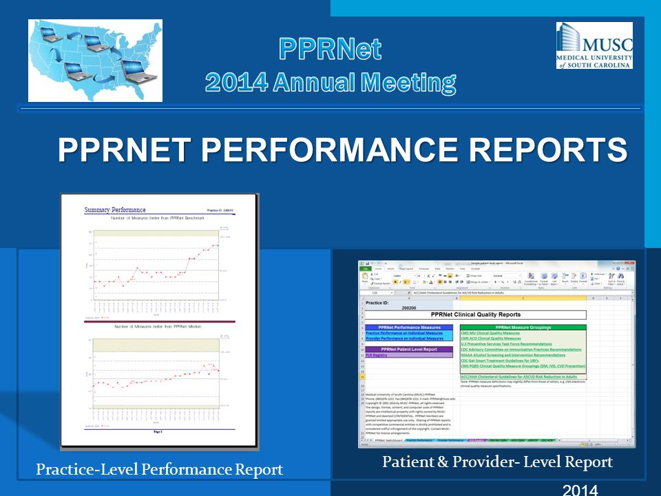 PPRNET PERFORMANCE REPORTS