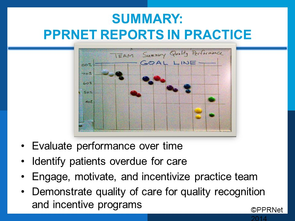 Summary: PPRNet Reports in Practice