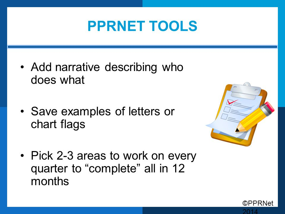 PPRNet Tools Add narrative describing who does what