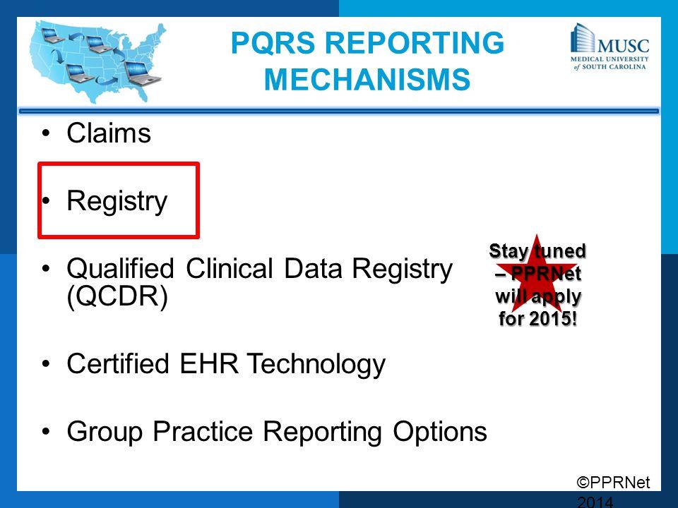 PQRS Reporting Mechanisms