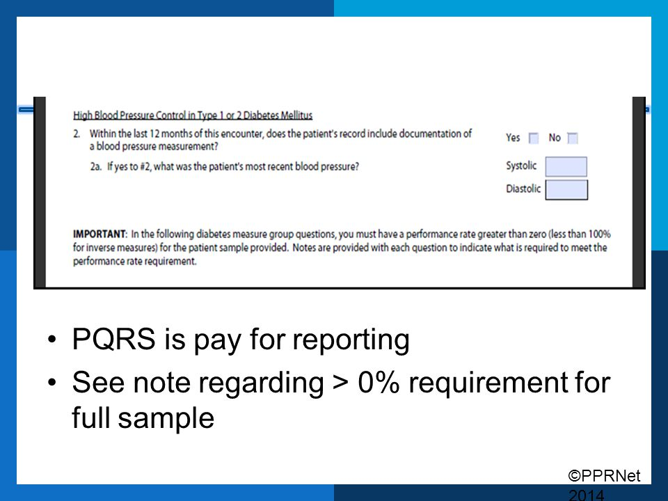 PQRS is pay for reporting