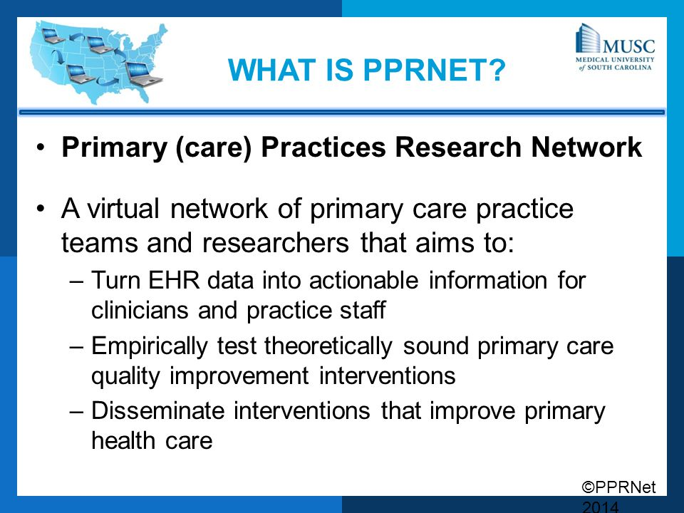What is pprnet Primary (care) Practices Research Network