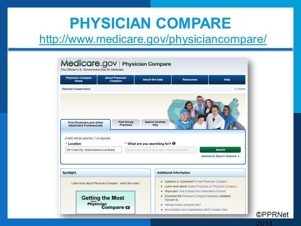 Physician compare http://www.medicare.gov/physiciancompare/