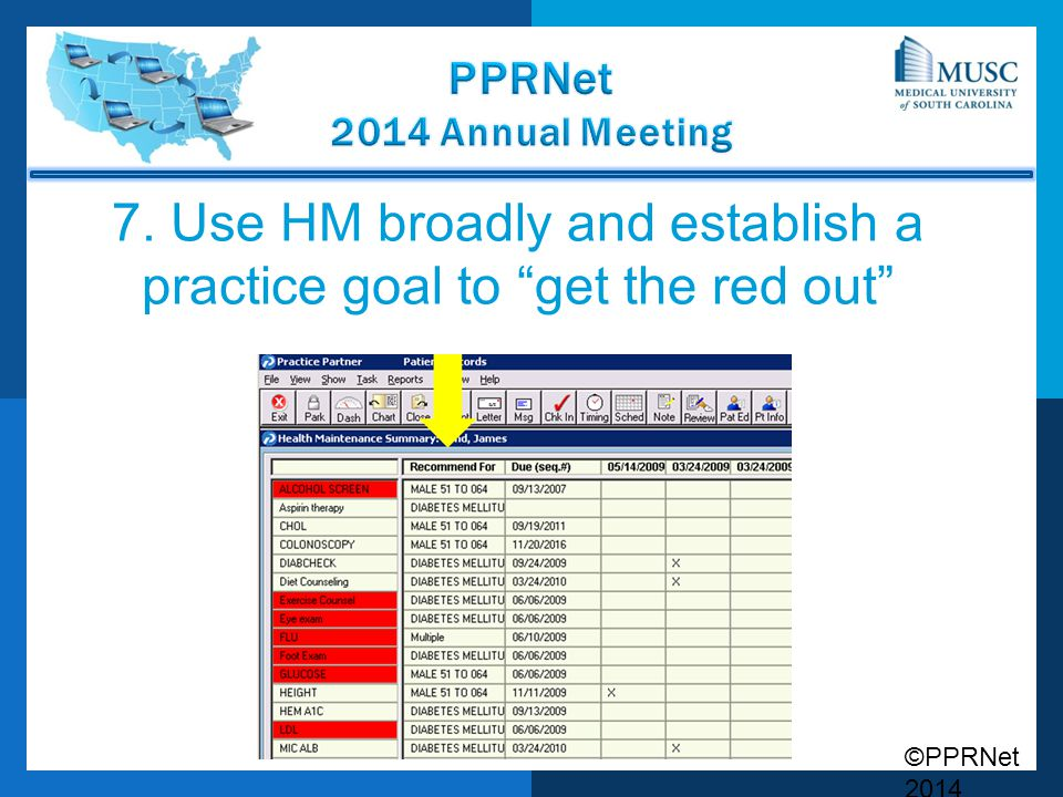 7. Use HM broadly and establish a practice goal to get the red out