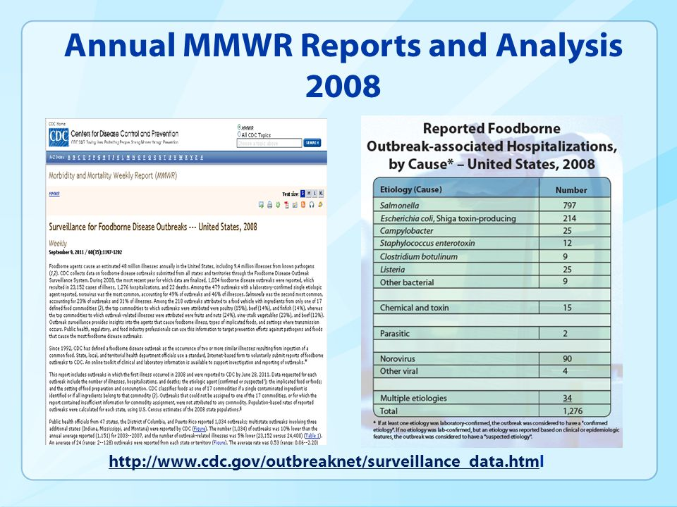 Annual MMWR Reports and Analysis 2008