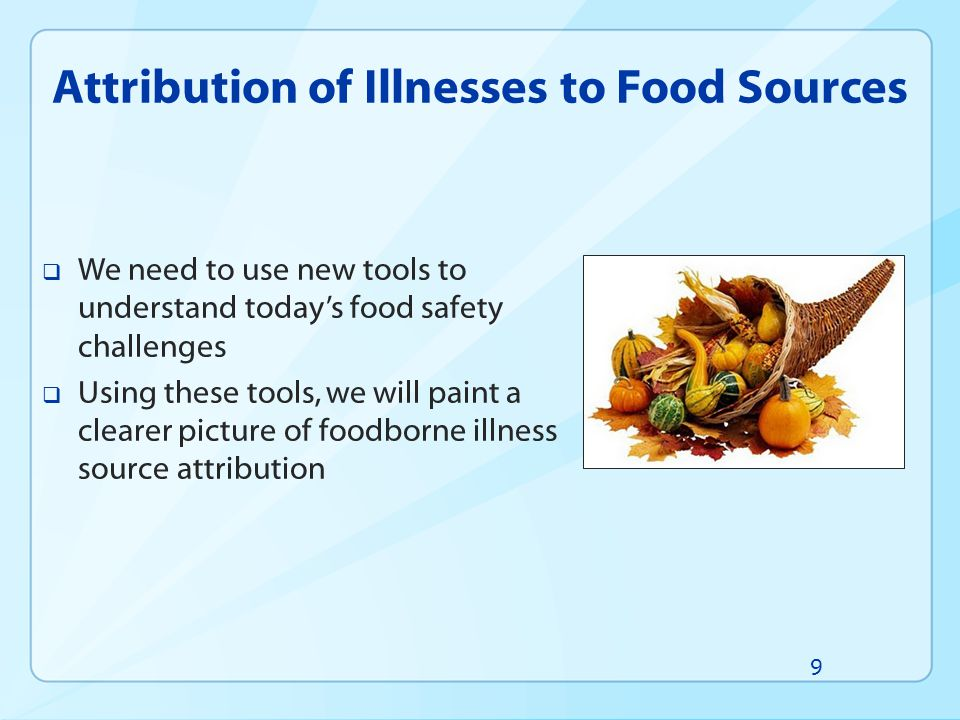 Attribution of Illnesses to Food Sources