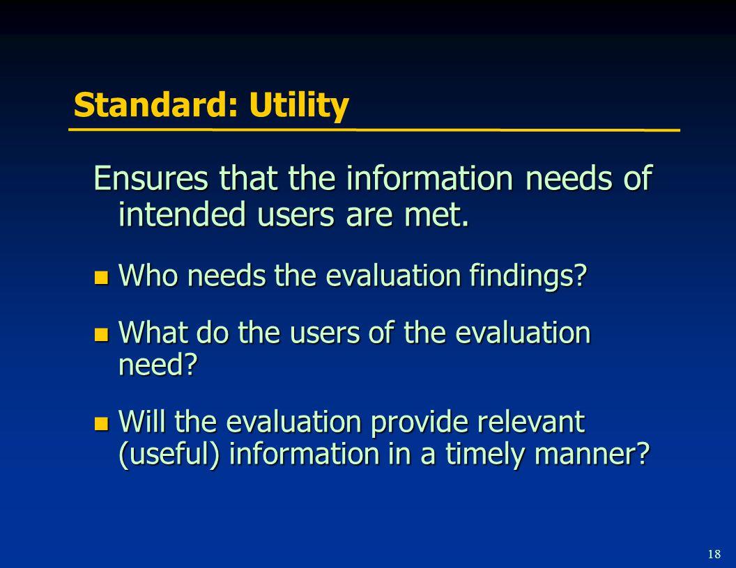 Standard: Feasibility