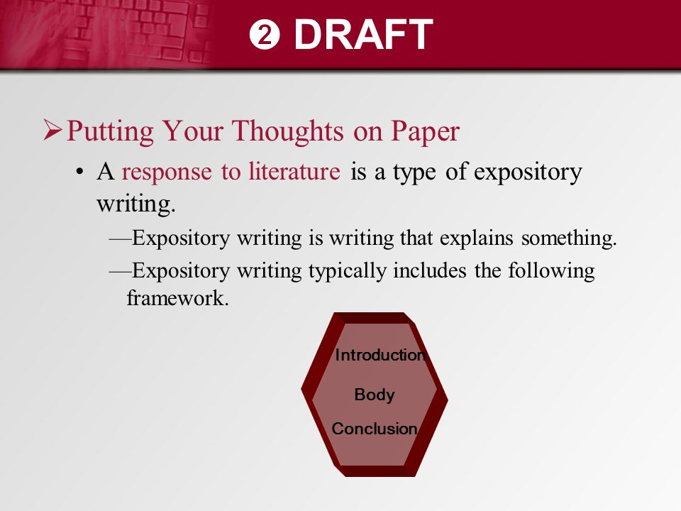 ➋ DRAFT Putting Your Thoughts on Paper