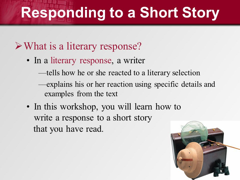 Responding to Literature (Short stories- concept 4)