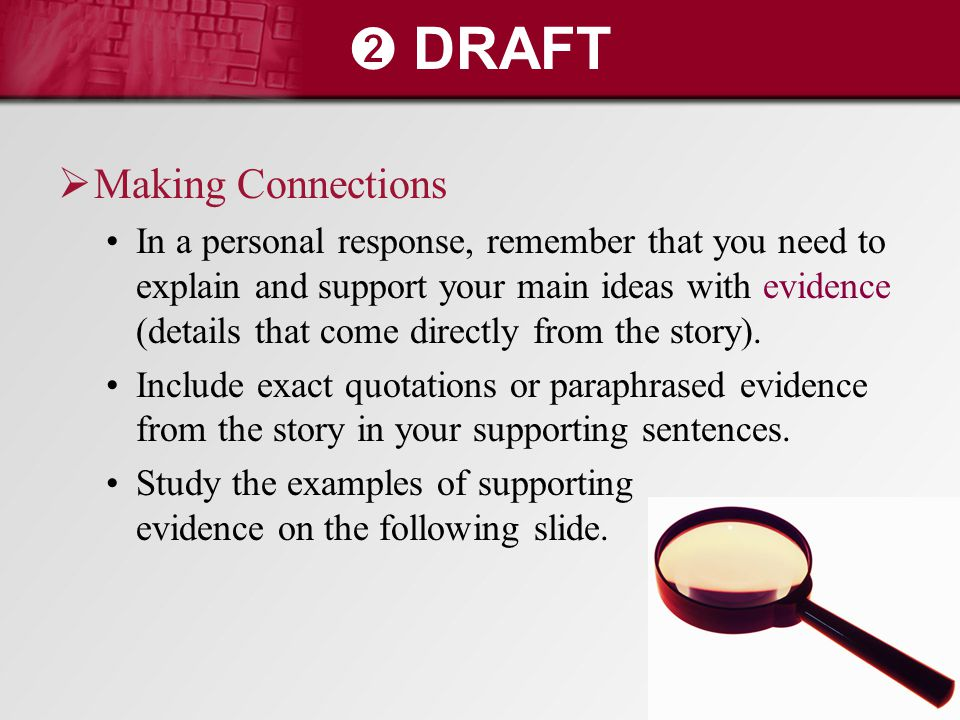 ➋ DRAFT Making Connections