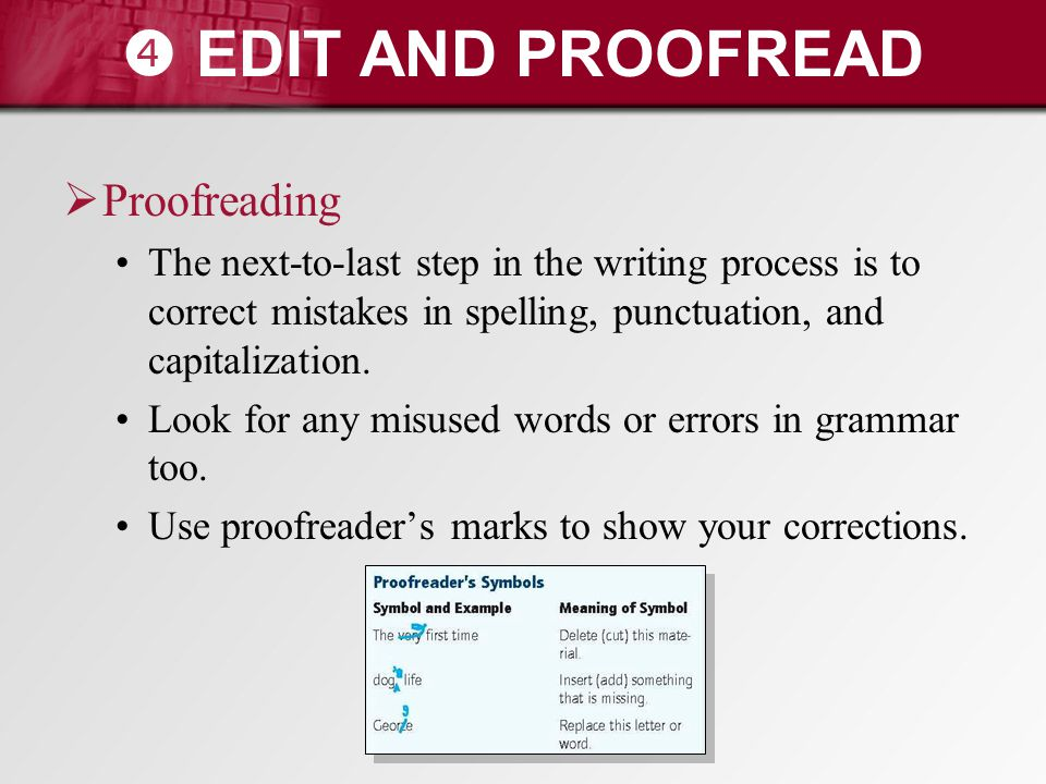  EDIT AND PROOFREAD Proofreading