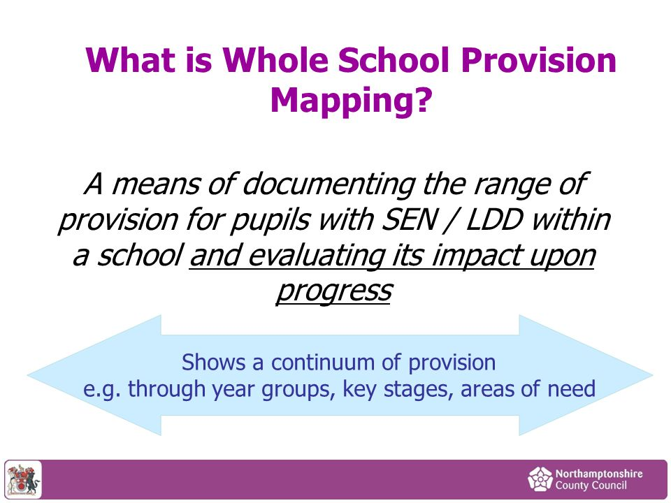 What is Whole School Provision Mapping