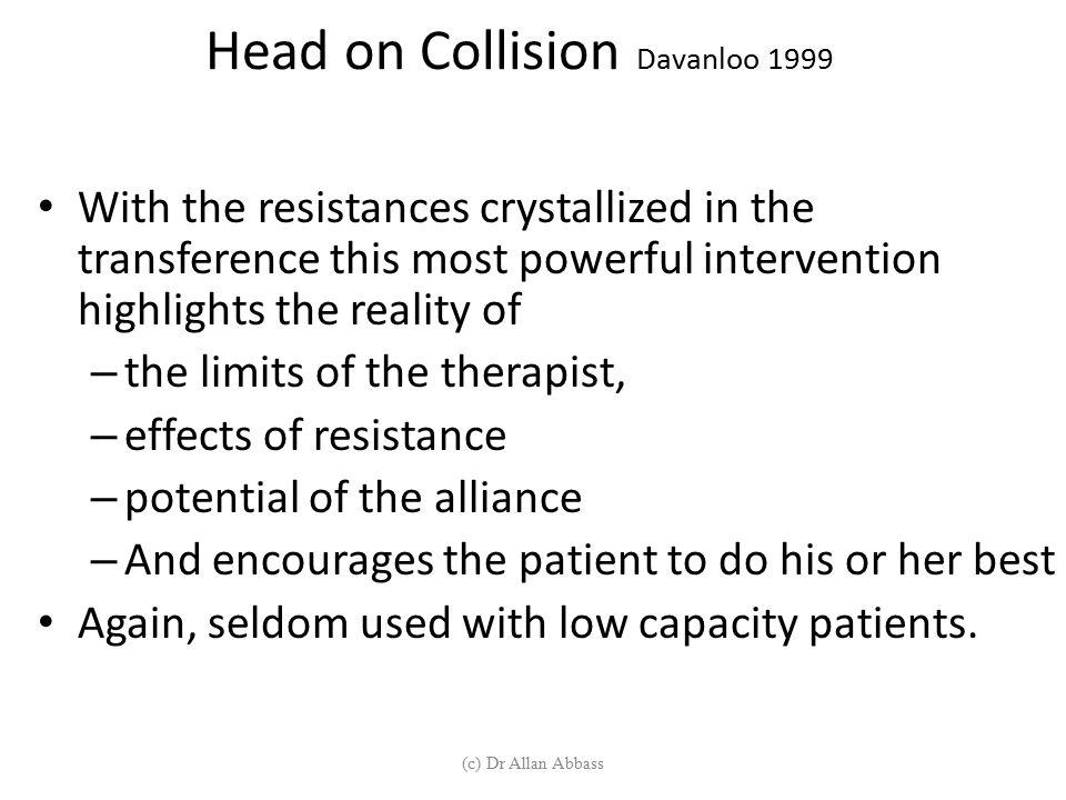 Head on Collision Davanloo 1999