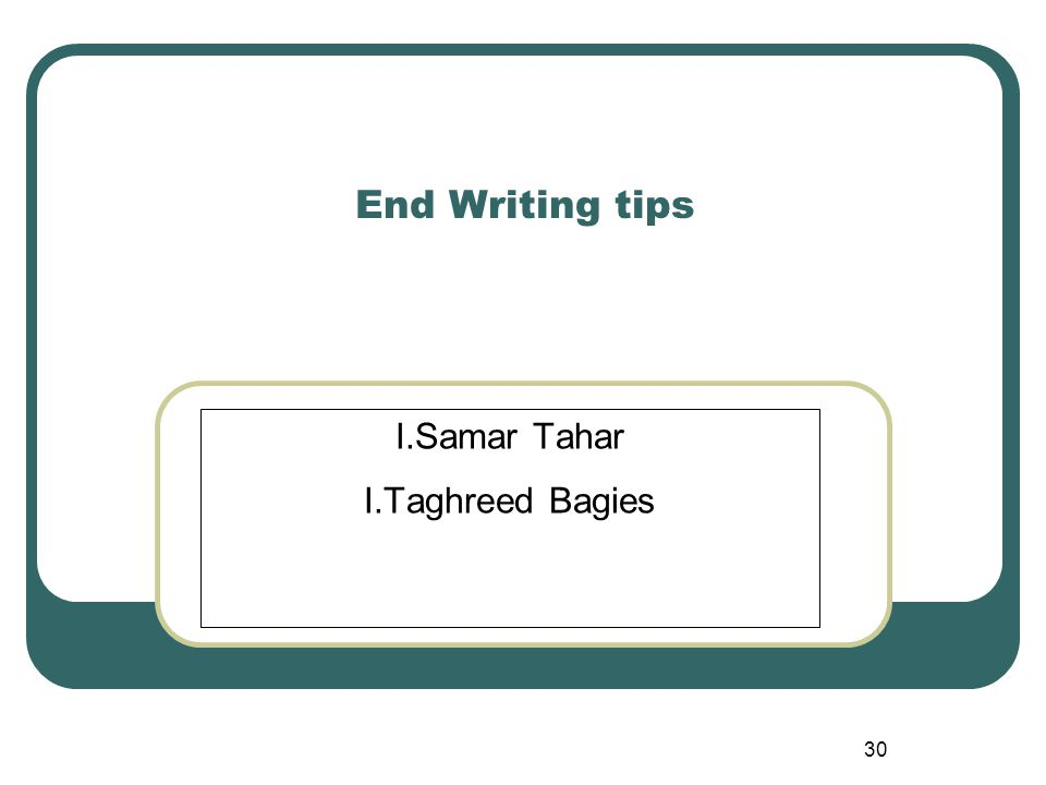 I.Samar Tahar I.Taghreed Bagies