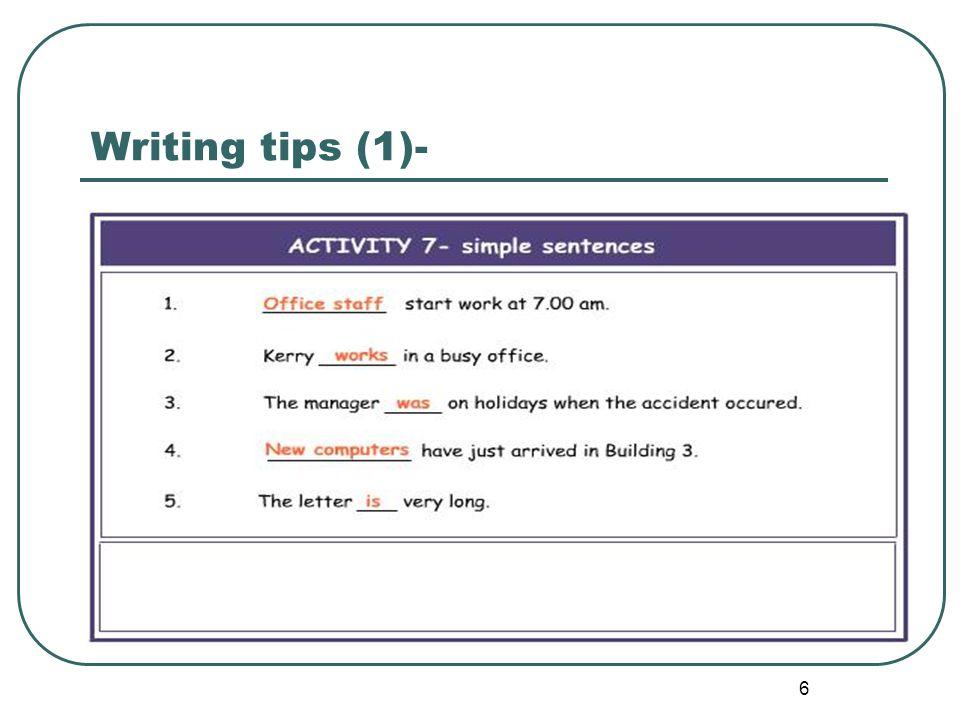 Writing tips (1)-