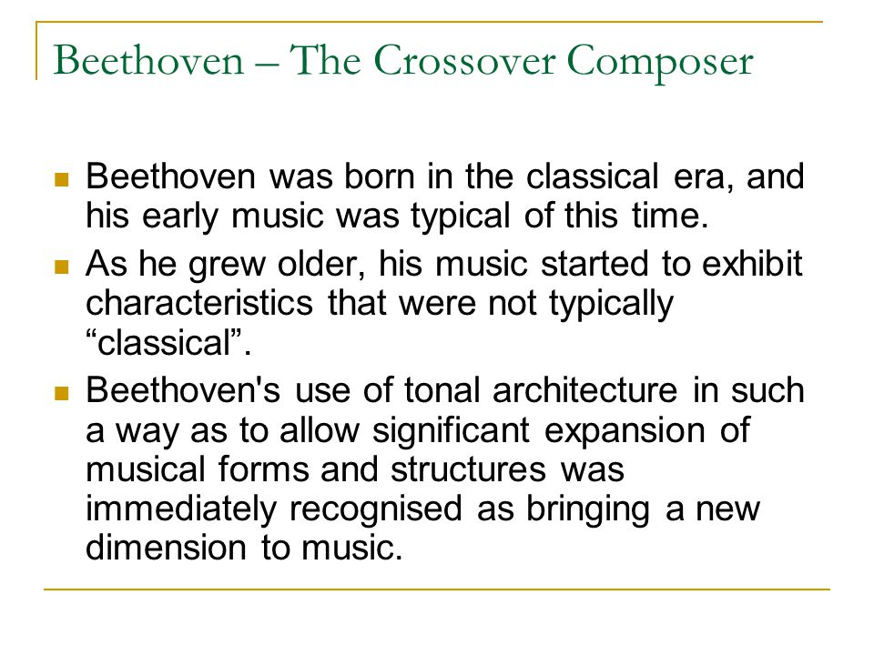 Beethoven – The Crossover Composer