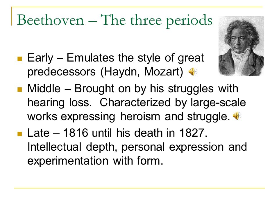 Beethoven – The three periods