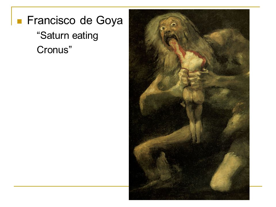 Francisco de Goya Saturn eating Cronus