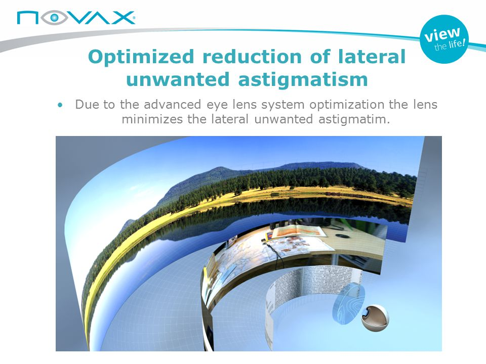 Optimized reduction of lateral unwanted astigmatism