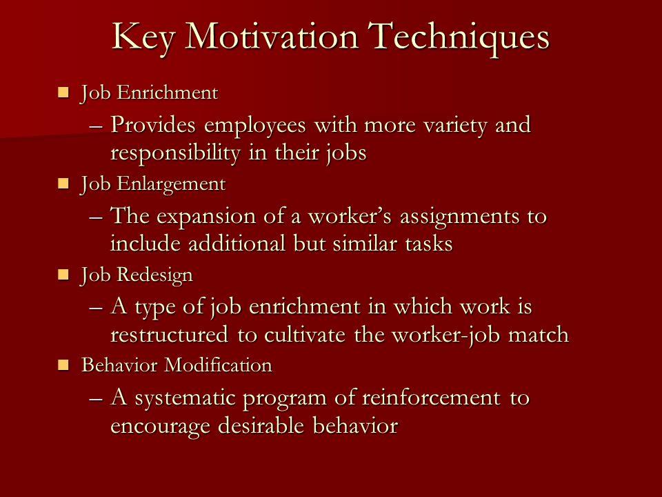 Key Motivation Techniques