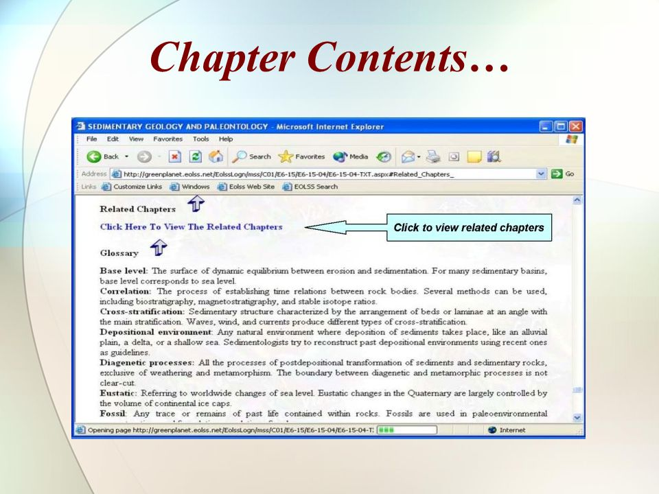 Chapter Contents…