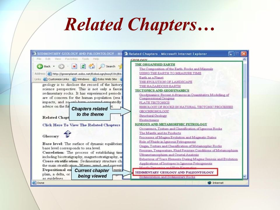 Related Chapters…